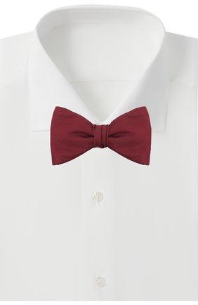 Мужской шелковый галстук-бабочка BOSS бордового цвета, арт. 50447087 | Фото 2
