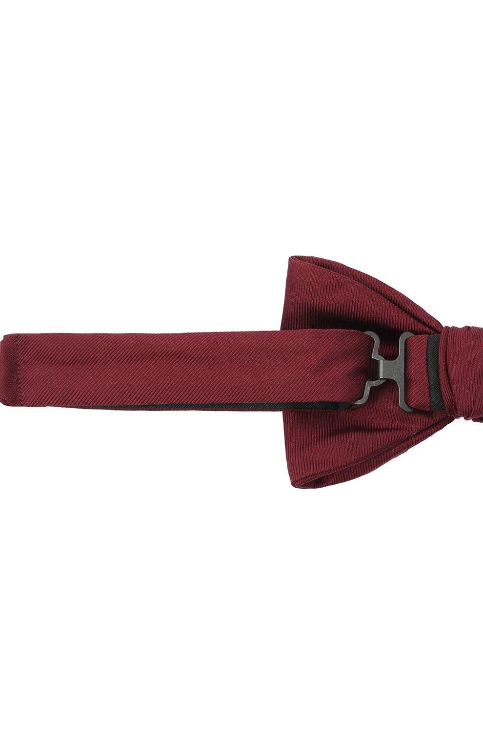 Мужской шелковый галстук-бабочка BOSS бордового цвета, арт. 50447087   Фото 3