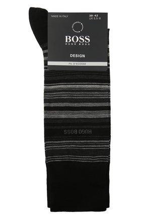 Мужские хлопковые носки BOSS черного цвета, арт. 50443033   Фото 1