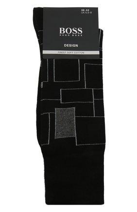 Мужские хлопковые носки BOSS черного цвета, арт. 50442811   Фото 1