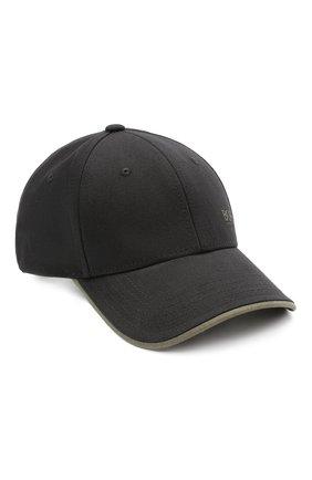 Мужской хлопковая бейсболка BOSS черного цвета, арт. 50430053 | Фото 1