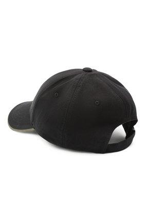 Мужской хлопковая бейсболка BOSS черного цвета, арт. 50430053 | Фото 2