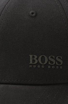 Мужской хлопковая бейсболка BOSS черного цвета, арт. 50430053 | Фото 3