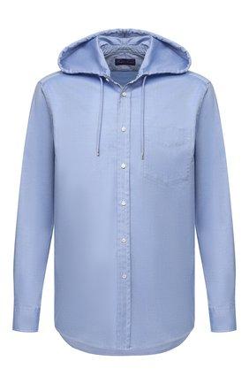Мужская хлопковая рубашка RALPH LAUREN синего цвета, арт. 790780927 | Фото 1