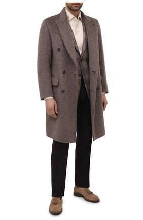 Мужские замшевые лоферы BRUNELLO CUCINELLI светло-коричневого цвета, арт. MZUKUDK902 | Фото 2