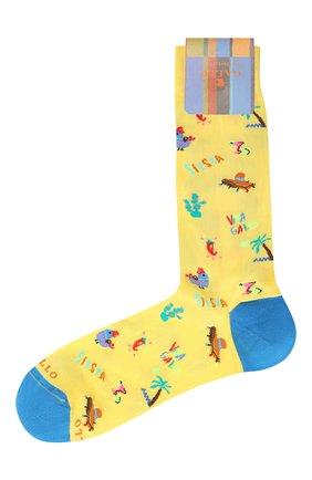 Мужские носки GALLO желтого цвета, арт. AP510135   Фото 1
