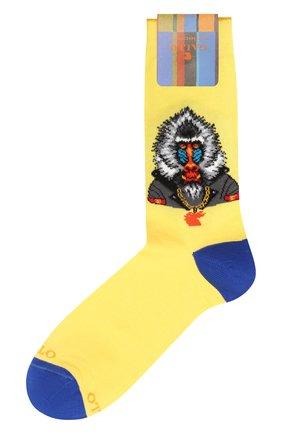 Мужские хлопковые носки GALLO желтого цвета, арт. AP509998   Фото 1