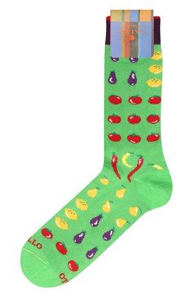 Мужские хлопковые носки GALLO зеленого цвета, арт. AP509840   Фото 1