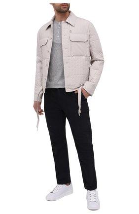 Мужской хлопковые брюки-карго TOM FORD темно-синего цвета, арт. BW141/TFP223 | Фото 2