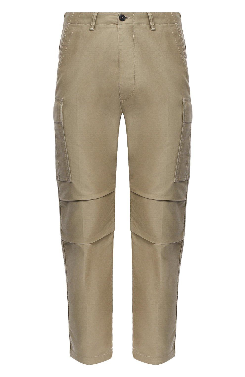 Мужские хлопковые брюки-карго TOM FORD бежевого цвета, арт. BW141/TFP223   Фото 1 (Силуэт М (брюки): Карго; Длина (брюки, джинсы): Стандартные; Случай: Повседневный; Материал внешний: Хлопок; Стили: Кэжуэл)
