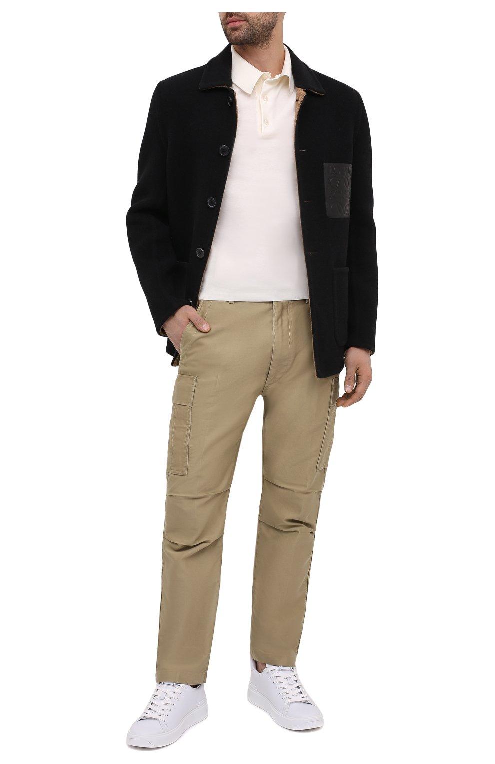 Мужские хлопковые брюки-карго TOM FORD бежевого цвета, арт. BW141/TFP223   Фото 2 (Силуэт М (брюки): Карго; Длина (брюки, джинсы): Стандартные; Случай: Повседневный; Материал внешний: Хлопок; Стили: Кэжуэл)
