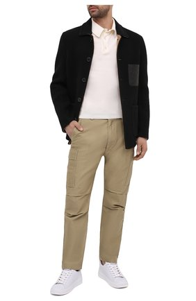 Мужские хлопковые брюки-карго TOM FORD бежевого цвета, арт. BW141/TFP223 | Фото 2 (Длина (брюки, джинсы): Стандартные; Материал внешний: Хлопок; Случай: Повседневный; Силуэт М (брюки): Карго; Стили: Кэжуэл)