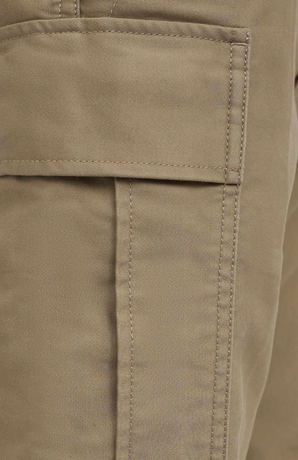 Мужские хлопковые брюки-карго TOM FORD бежевого цвета, арт. BW141/TFP223   Фото 5 (Силуэт М (брюки): Карго; Длина (брюки, джинсы): Стандартные; Случай: Повседневный; Материал внешний: Хлопок; Стили: Кэжуэл)