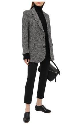 Женская кожаные монки GIORGIO ARMANI черного цвета, арт. X1C208/XF474 | Фото 2