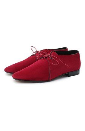 Женская замшевые туфли GIORGIO ARMANI бордового цвета, арт. X1C210/X0101 | Фото 1
