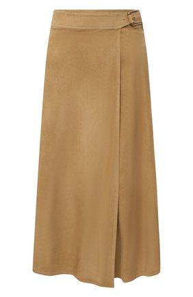 Женская замшевая юбка RALPH LAUREN бежевого цвета, арт. 293829084 | Фото 1