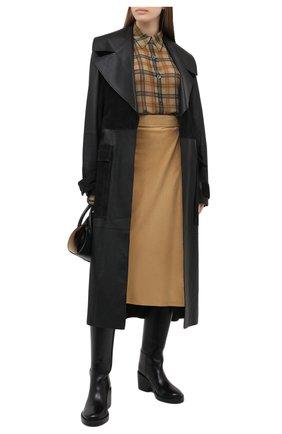 Женская замшевая юбка RALPH LAUREN бежевого цвета, арт. 293829084 | Фото 2
