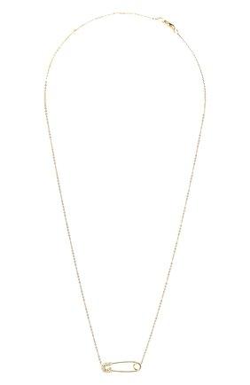 Женское колье J-POINT золотого цвета, арт. ИПГ857.38.010920.15Y   Фото 1