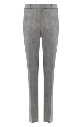 Женские шерстяные брюки BOSS черно-белого цвета, арт. 50443287 | Фото 1