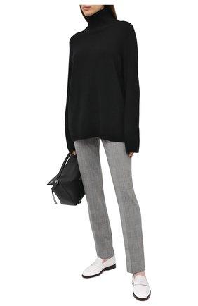 Женские шерстяные брюки BOSS черно-белого цвета, арт. 50443287 | Фото 2