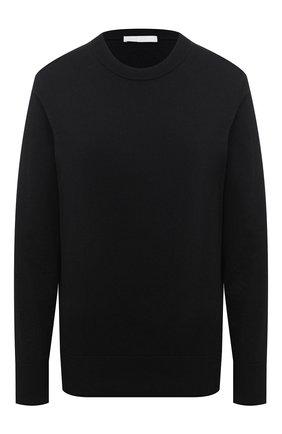 Женский хлопковый пуловер BOSS черного цвета, арт. 50436149 | Фото 1