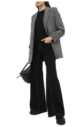 Женский хлопковый пуловер BOSS черного цвета, арт. 50436149 | Фото 2