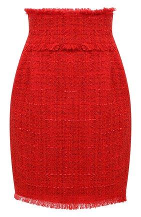 Женская юбка MSGM красного цвета, арт. 2942MDD111 207812 | Фото 1