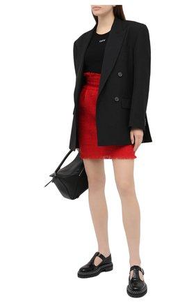 Женская юбка MSGM красного цвета, арт. 2942MDD111 207812 | Фото 2