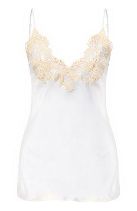 Женская шелковый топ LA PERLA белого цвета, арт. 0019225/0231 | Фото 1