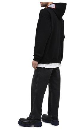 Мужской хлопковое худи VETEMENTS черного цвета, арт. UE51TR550B 1601/M   Фото 2
