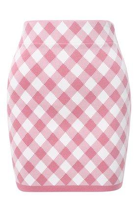 Женская юбка из вискозы BALMAIN розового цвета, арт. VF14020/K213 | Фото 1