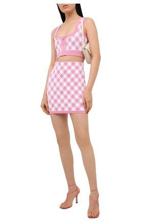 Женская юбка из вискозы BALMAIN розового цвета, арт. VF14020/K213 | Фото 2