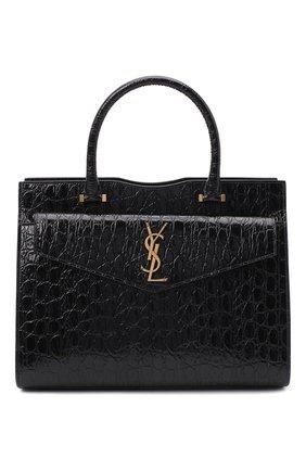 Женская сумка uptown medium SAINT LAURENT черного цвета, арт. 634747/1ZQ0W | Фото 1