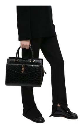 Женская сумка uptown medium SAINT LAURENT черного цвета, арт. 634747/1ZQ0W | Фото 2