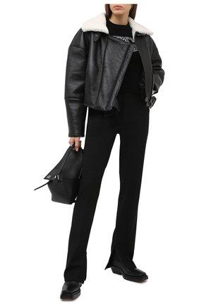 Женская дубленка DOLCE & GABBANA черного цвета, арт. F9I56L/FUP48 | Фото 2