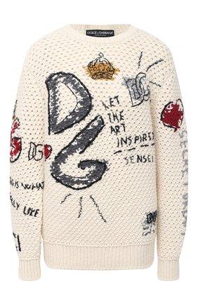 Женская свитер DOLCE & GABBANA белого цвета, арт. FX204Z/JAM5W | Фото 1