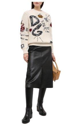Женская свитер DOLCE & GABBANA белого цвета, арт. FX204Z/JAM5W | Фото 2