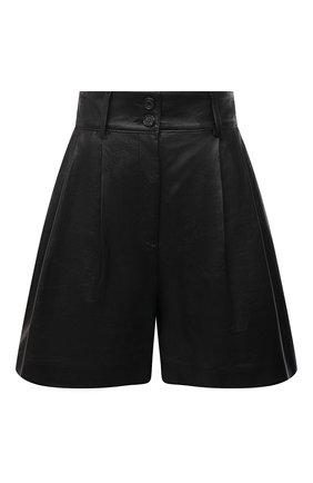 Женские кожаные шорты DOLCE & GABBANA черного цвета, арт. FTBYSL/HULJ7 | Фото 1