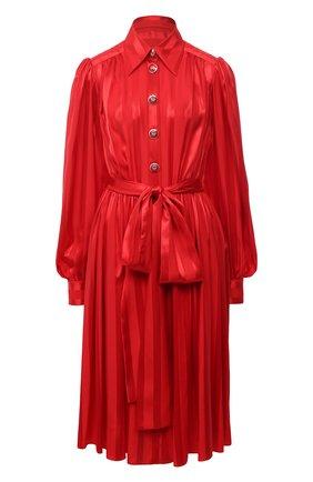 Женское шелковое платье DOLCE & GABBANA красного цвета, арт. F6H2RT/FJ1HS | Фото 1