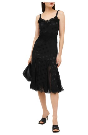 Женское шелковое платье DOLCE & GABBANA черного цвета, арт. F6B6CT/FJ1HR | Фото 2