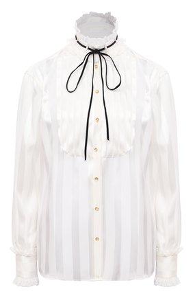 Женская шелковая блузка DOLCE & GABBANA белого цвета, арт. F5L86T/FJ1HS | Фото 1