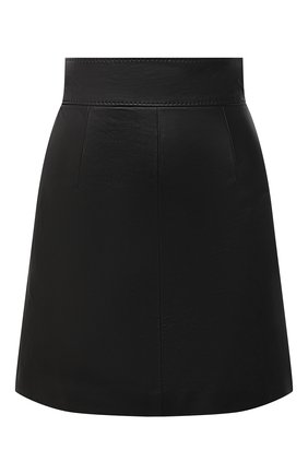 Женская кожаная юбка DOLCE & GABBANA черного цвета, арт. F4BZ4L/HULFY | Фото 1