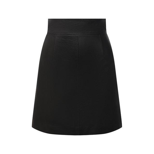 Кожаная юбка Dolce & Gabbana
