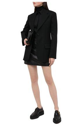 Женская кожаная юбка DOLCE & GABBANA черного цвета, арт. F4BZ4L/HULFY | Фото 2