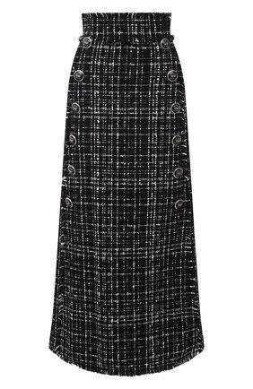 Женская юбка DOLCE & GABBANA черного цвета, арт. F4BVYT/FMMFS | Фото 1