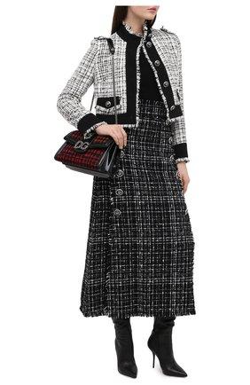 Женская юбка DOLCE & GABBANA черного цвета, арт. F4BVYT/FMMFS | Фото 2