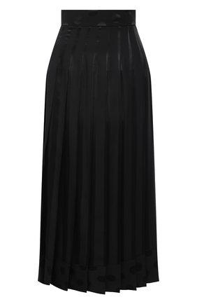 Женская шелковая юбка DOLCE & GABBANA черного цвета, арт. F4BSZT/FJ1HS | Фото 1