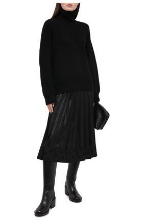 Женская шелковая юбка DOLCE & GABBANA черного цвета, арт. F4BSZT/FJ1HS | Фото 2