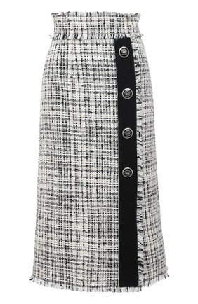 Женская юбка DOLCE & GABBANA белого цвета, арт. F4BRST/FMMFT | Фото 1