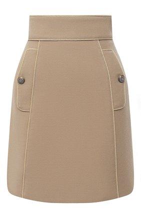 Женская шерстяная юбка DOLCE & GABBANA бежевого цвета, арт. F4BRQT/FU2C0 | Фото 1